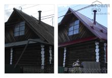 Сделать двухскатную крышу